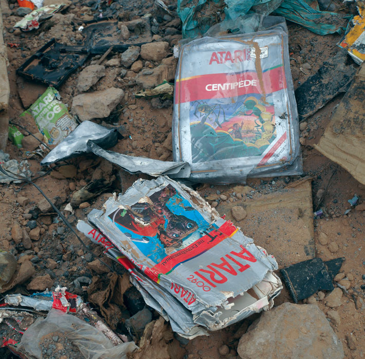 Atari Graveyard Cartridges
